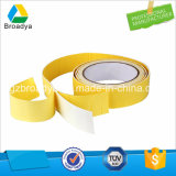 Weißes (1500 Mikron) geändertes Lösungsmittel-Acrylsaueranhaftendes Schaumgummi-Band (BY1515)