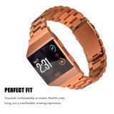 Accesorios del reloj del metal del acero inoxidable para la venda iónica de Fitbit