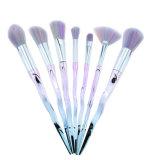 Kit di strumento cosmetico di mescolamento della guancica variopinta della spazzola di bellezza di Concealer di profilo dell'ombretto della polvere del fondamento della spazzola di trucco della spada di 7 PCS/Set Bao