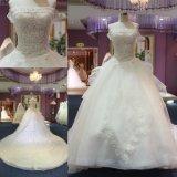Nach Maß moslemische reale wulstige Kugel-Brauthochzeits-Kleid Dubai-Bling
