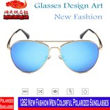 1262 lunettes de soleil polarisées colorées d'hommes neufs de mode