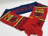 Écharpe tricotée acrylique personnalisée de passioné du football