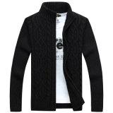 Het Acryl en Pit van de Polyester van mensen onderaan de Sweater van de Cardigan met het Patroon van de Bloem