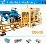 Hydraulischer automatischer großer Gehsteig Qt4-15, der den hohlen Block herstellt Maschine pflastert