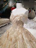 Платье венчания королевского белого отделяемого поезда Шампань стеклянное кристаллический