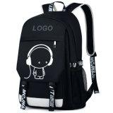 Backpack мешка школы дневного разъема USB рюкзака Nylon изготовленный на заказ