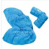 PE CPE de plástico desechables Cubrezapatos antideslizantes con