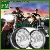 Luz de névoa do diodo emissor de luz do cromo de 4.5 polegadas para Harley Daivdson