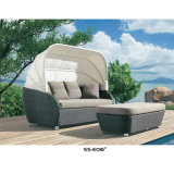 Daybed ao ar livre ao ar livre barato do sofá com mesa de centro