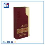 Boîte-cadeau personnalisée de bijou de papier d'emballage d'impression de logo pour le vin