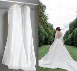 Sacs de vêtement pliables estampés par coutume respirable claire de robe de mariage de PEVA