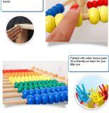 Интеллектуальное развитие математика DIY деревянный валик клея лабиринт дошкольного образования игрушка