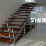 Твердая древесина топчет случай лестницы/прямо лестницу