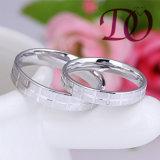 Eenvoudige Trouwringen voor Vrouwen en Mannen 925 de Echte Ring van de Zilveren bruiloft