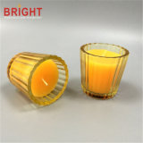 Votive Clear Yellow Perfumed Knell Candle with Texture
