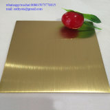 1.0mm 201 золото зеркала листа 4X8 нержавеющей стали