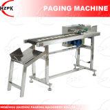 Máquina de paginação para separar o papel, saco de plástico, cartão da identificação