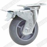 5 pouces Double roulement à billes de précision Heavy Duty TPR Roulette industrielle de roue