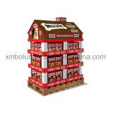 Présentoir personnalisé par modèle neuf d'étage de carton pour l'étalage de casse-croûte/biscuits