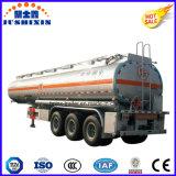 3pétrolier de carburant en acier de l'essieu /liquide /réservoir essence semi-remorque avec ressort à lames