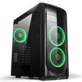 Computador de secretária do PC do caso do jogo com ventiladores de refrigeração/diodo emissor de luz azul