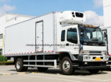 Caminhão do transporte do alimento fresco das rodas de Isuzu 4X2 6 8 toneladas de caminhão Refrigerated
