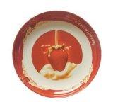Platen van de Melamine van het Af:drukken van de Douane van de Kleur van het hotel de Witte voor Diner en Woestijn