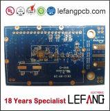 Placa PCB de ouro de imersão para dispositivo de segurança com solda azul