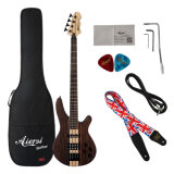 Basse solide en gros de guitare électrique de chaîne de caractères du Zebrawood 4