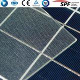 Vidro de folha para o baixo ferro do painel solar