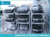 Três níveis de equipamento de estacionamento simples com pit