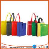 Bolso de compras respetuoso del medio ambiente colorido barato de la fábrica directo