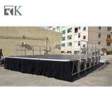 屋外のイベントのためのAdjustiableの足を搭載するRk Portabelのアルミニウム段階