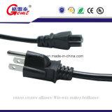 Штепсельная вилка Pin американского стандарта 3 UL США с круглым американским стандартом разъема кабеля и силы PC мы шнур питания AC 3 Pin