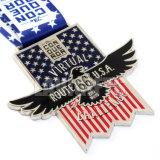 デザインの安い米国の水泳の金属の骨董品の挑戦競争メダル