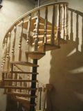 Aço Inoxidável Personalizada escadaria em espiral de madeira feitos em Foshan