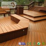 Decking compuesto de madera hueco Grieta-Resistente de las tarjetas de madera de WPC