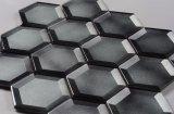 Fácil de instalar el cuarto de baño de Asia astilla de la pared de azulejos hexagonal mosaico de vidrio