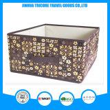 普及したNon-Wovenブラウンの花によって印刷される記憶袋ボックスFoldableボックス