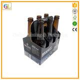 Portador de encargo de la cerveza de la caja de cartón con la maneta
