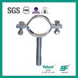 Tipo redondo sanitário encaixe do aço inoxidável de tubulação do suporte da tubulação