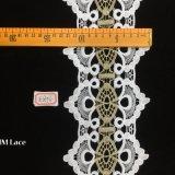 13cmアランソンのレースのトリムHme876を縫う幾何学的なパターンレースのリボンの方法