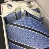 Gravata de seda tecida jacquard Cravatte ajustado para homens