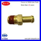 Acoplador de cobre amarillo de la junta de tubo del tubo del cortocircuito de la inyección del apagador del impacto