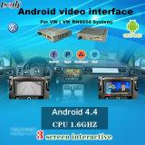 """Interfaz video de la navegación androide compatible con cámara del Rearview del soporte de 10-17 Touareg 8 """""""