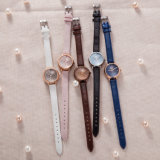 Reloj de señoras de lujo del reloj del regalo de la muñeca del ODM del OEM de la voga (Wy-133A))
