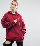 Nuove donne Hoodies di alta qualità con il maglione collegato lungo della protezione