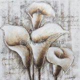 추상적인 현대 꽃 유화