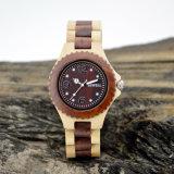 Alta calidad con el reloj de madera del movimiento de Japón, reloj del OEM