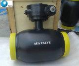 El calor del gas de acero al carbono y agua de la válvula de bola flotante totalmente soldado